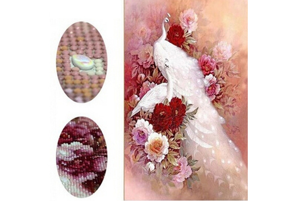 2018 Beauty DIY 5D Embroidery Painting Peacock Diamond Cross Stitch Craft Home Decor (Size: 30*40cm)