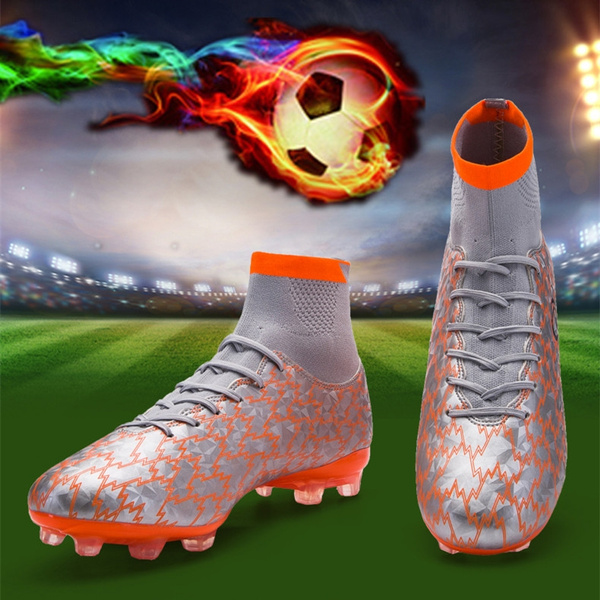 ea777f002de1 High ankle men football shoes spike training football boots hard ...