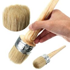 oilpaintbrush, bristlechalk, roundbristlechalk, Wooden