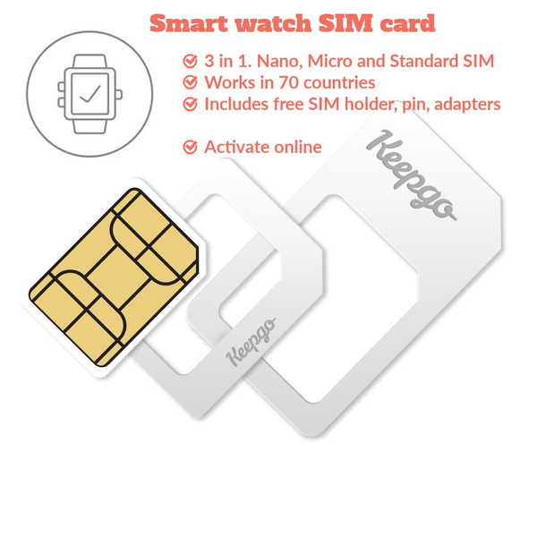 VFSKn® Slim SIM Card holder case & Micro SD card Storage + 1 USB Memory  card reader 3 sim card Adapters 1 Iphone pin Tray Opener, Holds 4 SIM Cards  1