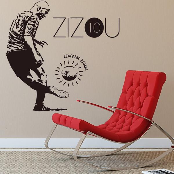 wish   zidane football player character creative decorative wall