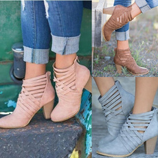 ankle boots, squareheelsboot, anklebootsforwomen, Womens Shoes