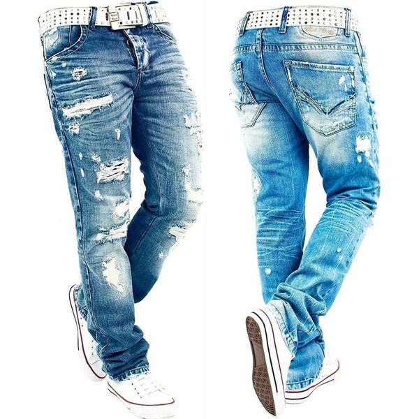 billig werden Luxus beste Wahl Fashion Men RedBridge By Cipo Baxx Herren Jeans Hose Destroyed Denim Pant
