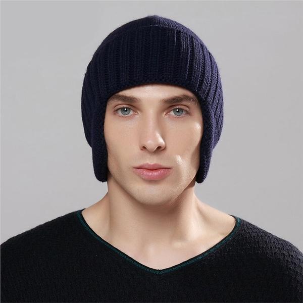1 x Mens Snow Beanie Cap Warm Winter Hats Ear Covered Fashionable Headwear 2cf61298e45