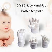 3D Plaster Molding Clone Powder Kids Handprints Footprints Baby Hand Foot