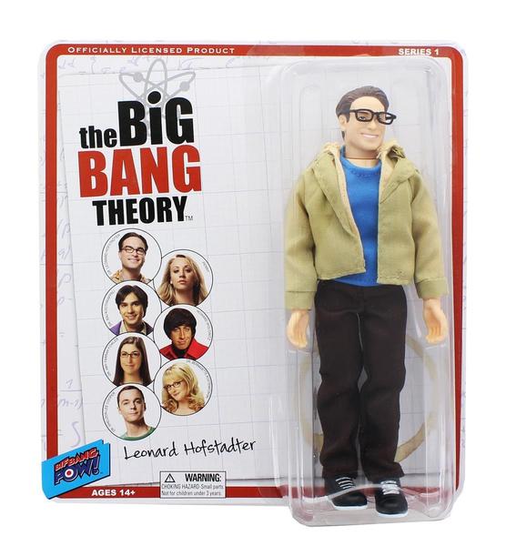 "BIG BANG THEORY Leonard Hofstadter retro clothed 8/"" Action Figure"