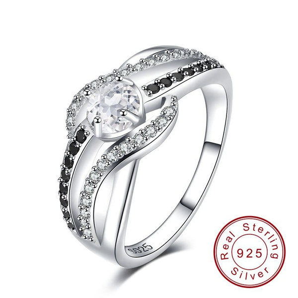 Sterling, sterlingsilverboutiquejewelryengagementring, sterlingsilverjewelryforwomensweddinggiftring, Jewelry