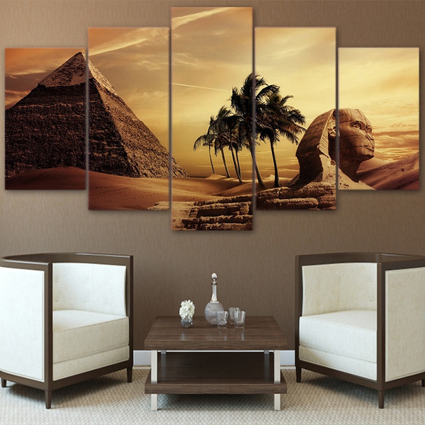 Superb Mystery Huff Pyramid Ancient Egypt Landscape Unframed Wall Art Picture Bedroom Living Room Pictures Home Decoration Andrewgaddart Wooden Chair Designs For Living Room Andrewgaddartcom