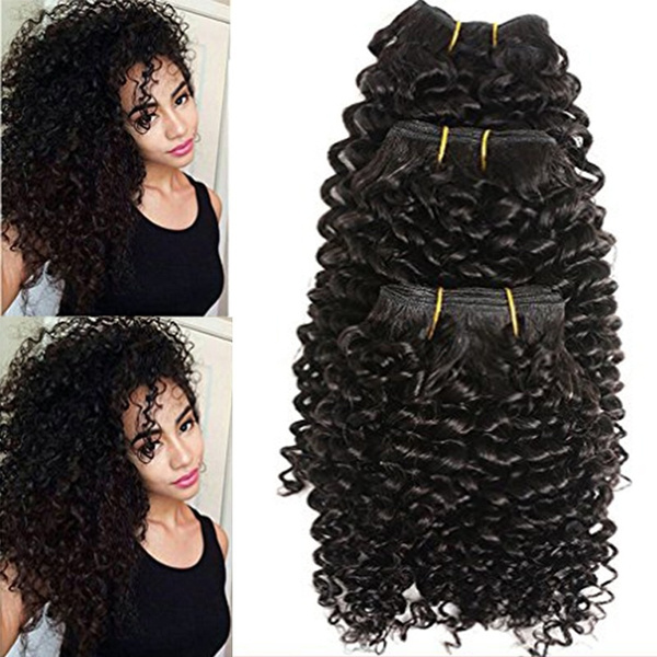 Geek Jerry Curly Black Hair Bundles Synthetic Hair Extensions Wavy