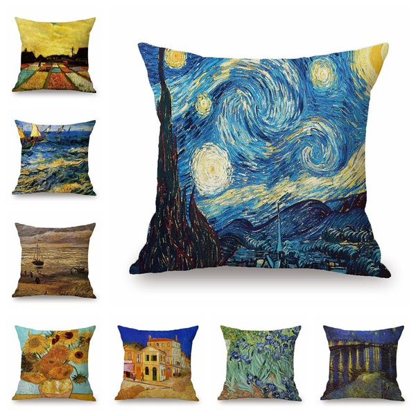 oilpaintingpillowcase, Abstract Oil Painting, sofapillowcover, Pillow Covers