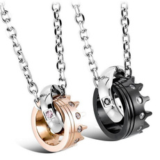 Stainless Steel, Love, Chain, titanium steel necklace