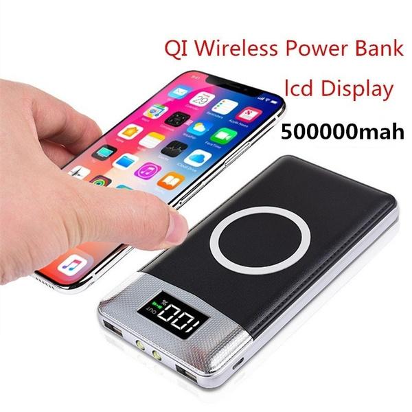 efd921c4ec9b25 Hot 2USB Ports 500000mah QI Wireless Charger Power Bank Built-in Wireless  Charging Universal Power Bank | Wish