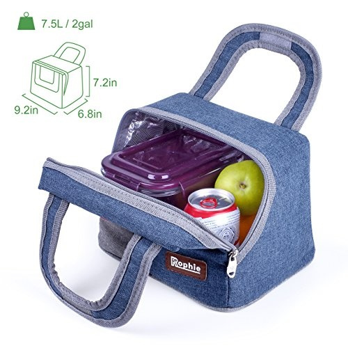 Geek Insulated Lunch Bag Rophie Reusable Outdoor Byo Travel Picnic School Bento Large Box Tote For Women Men And Kids 7 5l