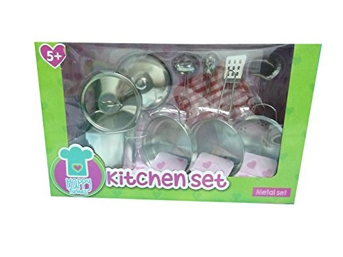 Wish Emoreful Toys Metal Pots And Pans Kitchen Cookware Playset