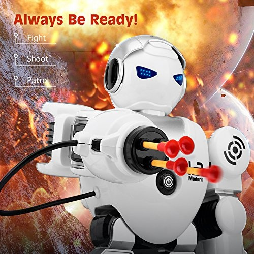 White Zooawa Remote Control Alpha Robot Intelligent Programmable Humanoid RC Toy for Kids