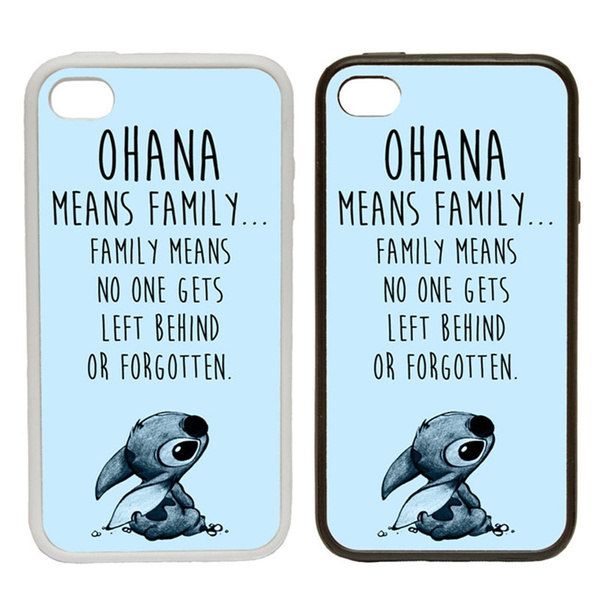new concept 67ca0 b0c29 Ohana Means Family ! - blue Phone Cover Case Lilo Stitch , iPhone 4 5 6 7s  plus 8 X case Samsung Galaxy s6 s7 s8