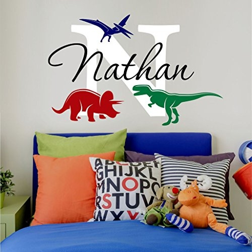Nursery Boys Name And Initial Dinosaurs
