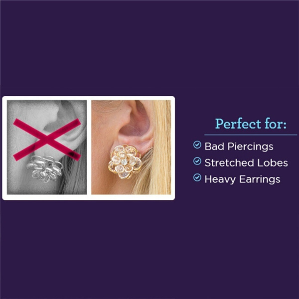Wish 1 Pair Magic Bax Earring Backs Support Lifts Hypoallergenic Fits All Post Earrings 18k Gold Plated Sterling Silver
