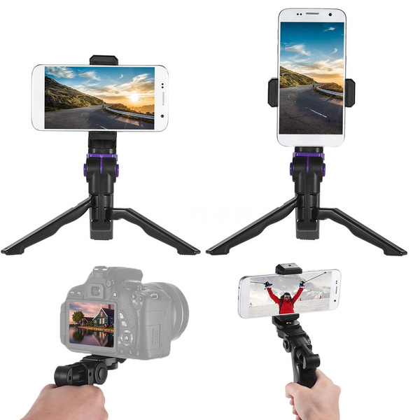 new style 9b948 70e63 Andoer Universal Mini Phone Tripod Stand Handheld Grip Stabilizer with  Adjustable Smartphone Clip Holder Bracket IPhone 7 Plus/7/6/6 Plus/6s  Samsung ...