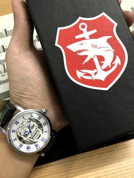 Wish Sas Shield Anchor Shark Sport Watch Punk Style Skull Skeleton