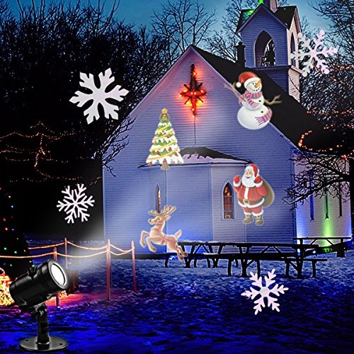 wish christmas led projector lights goutoday newest version 14 slides bright waterproof landscape led projector projector light - Christmas Led Projector