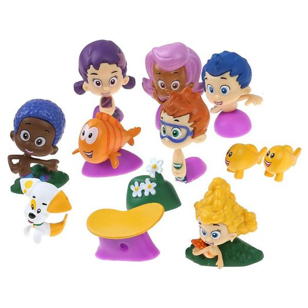 12Pcs//set Bubble Guppies Gil Molly Nonny Vinyl Action Figure Collectible Toy