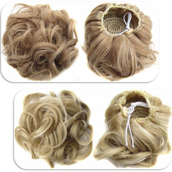 Geek Ponytail Hair Extensions Hair Donut Hair Chignons Hair