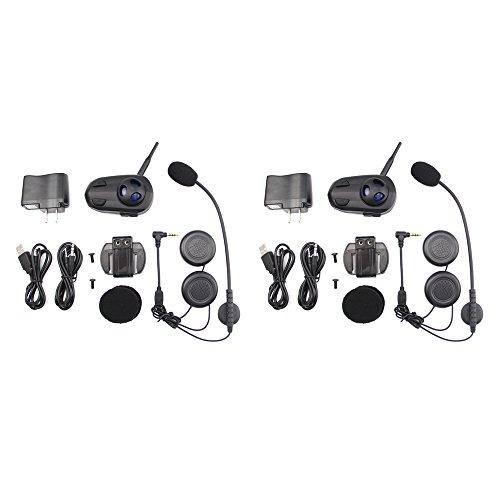 Shark Bluetooth Headset And Intercom For Motorcycle Scooter Helmet Handsfree Voice Dial Set Of 2 Full Duplex Intercom Communication Model Shkmhf6 Black Geek