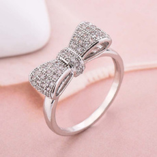 Sterling, bownotring, 925 sterling silver, 925 silver rings