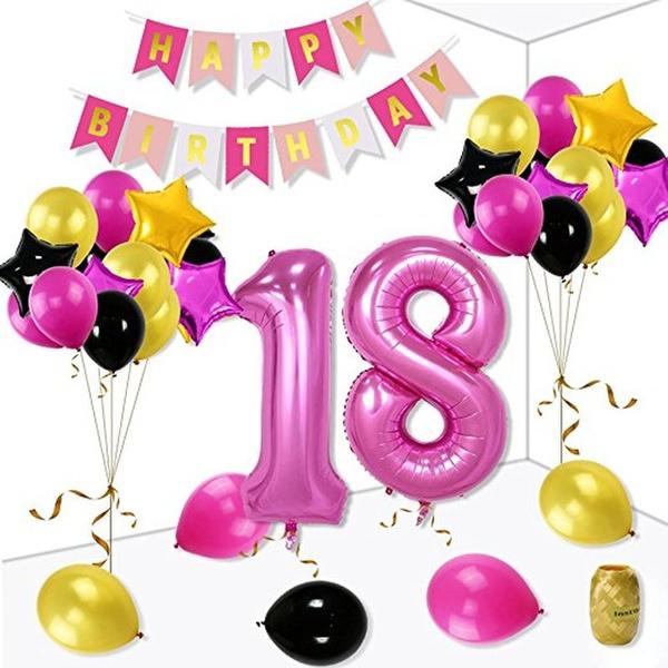 29TH BIRTHDAY STAR BALLOON 18 INCH MYLAR BIRTHDAY PARTY SUPPLIES