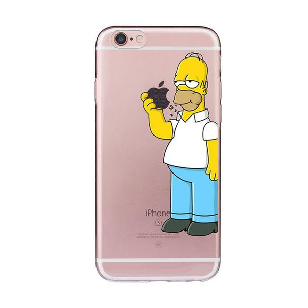 sneakers for cheap 9916e b8eeb Funny Homer Case for iphone 6 6s 5 5s SE 7 plus Ultra-thin Cheap Cover  Simpson Coque Soft TPU Fundas Silicone Transparent Cute