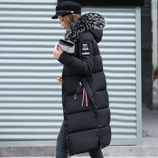 casual coat, hooded, fur, Winter