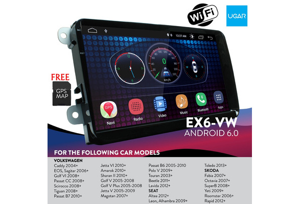 UGAR EX6 7 Android 6.0 Car Stereo Radio Plus 11-260 Fascia Kit for Smart ForTwo BR451 2007-2010