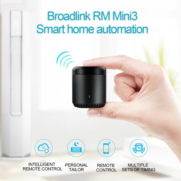 BroadLink New RM Mini3 IR Control Hub Smart Home Wi-Fi Enabled Infrared  Universal Remote Control One for All Control TV PVR VDO DVD CD AUD SAT