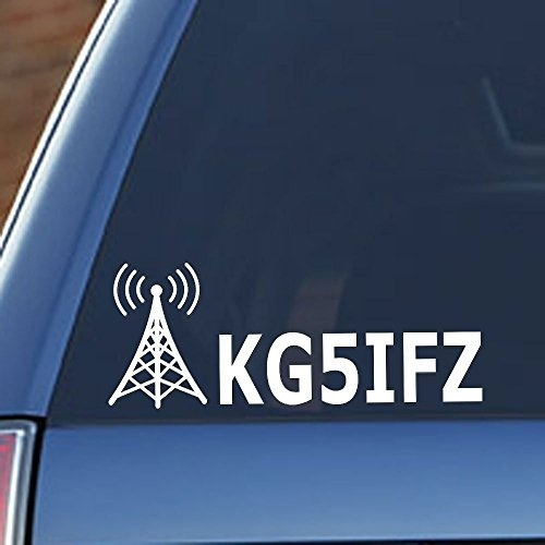 Ham Radio - Amateur Radio Callsign Antenna Window Decal
