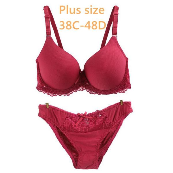 Bra Push Up Bras Plus Size 38C Cup Brassiere 3//4 Cup Underwear,Image Color,B,32