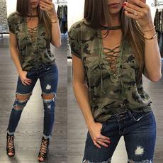 blouse, Summer, Shorts, Women Fashion Tops