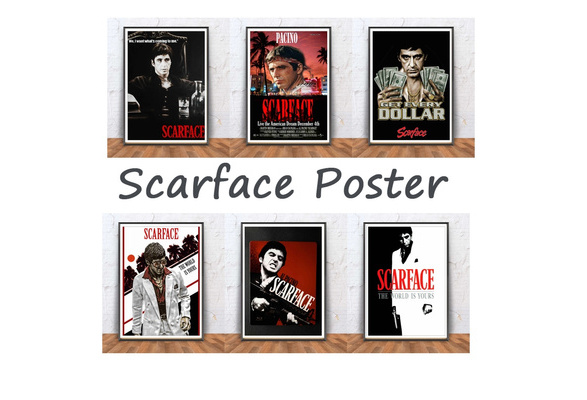 Wish | Scarface movie Poster coated Poster white Paper Cafe Home ...