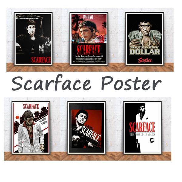 Wish | New 5 Panels Scarface Al Pacino Movie Greats Art Poster ...