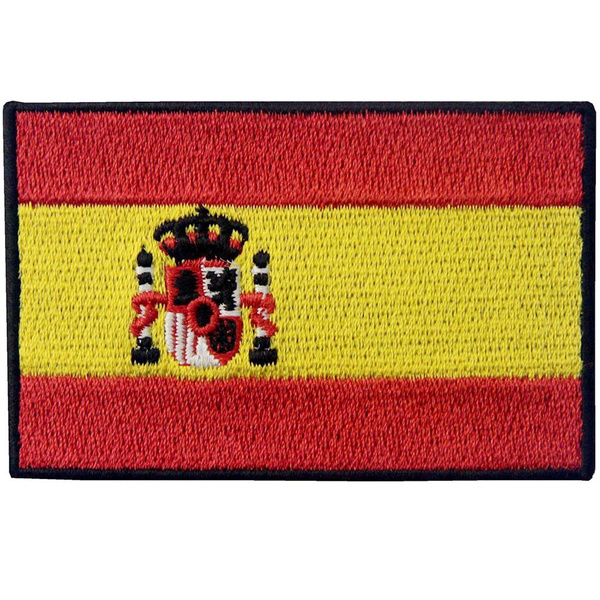 Spain Flag Patches Backpack Badge Iron on/Sew on Embroidered