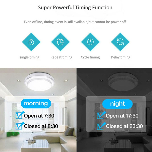 Sonoff EU/US Plug Wifi wireless Touch Luxury Glass Panel Touch LED Light  Wall Switch 1Gang Wifi Time Switch Remote Control Ewelink