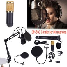 Steel, bm800condenser, Microphone, Stainless Steel