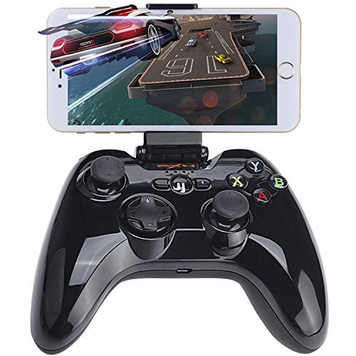 Apple MFi Certified Bluetooth Controller Gamepad, Megadream Wireless IOS  Gaming Joystick with Clamp Holder for iPhone X, 8 Plus, 8, 7 Plus, 7 6S 6  5S