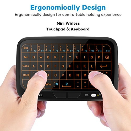 073121e2500 EVANPO E3+ 2.4GHz Mini Wireless Keyboard and Touchpad Mouse Combos ...