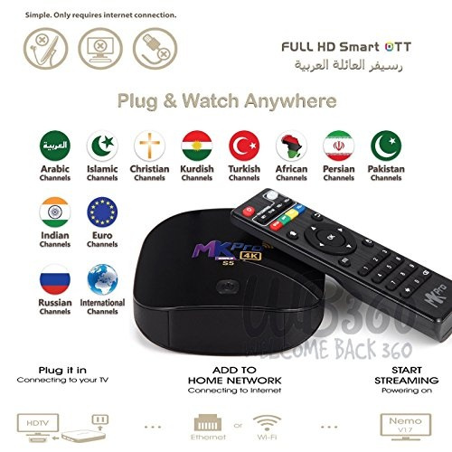 Best Arabic IPTV English HD NEWEST 2018 TV Box Internet WIFI Receiver  Android 4K Channels MBC ARAB SPORTS ART etc    MORE THAN 2000 CHANNELS  WORLDWIDE