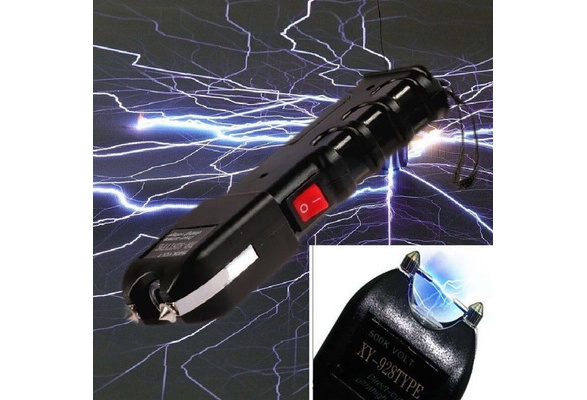 Women Self Electric Shock Massager Plug Conductive Bar Women's Self-defense Tools Remote Distance Electric Shock Outdoor Flashlight Multi-function Car Mini Electric Super High-voltage Self-defense Rechargeable Super Bright Supplies