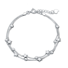 Charm Bracelet, Sterling, Star, Gifts