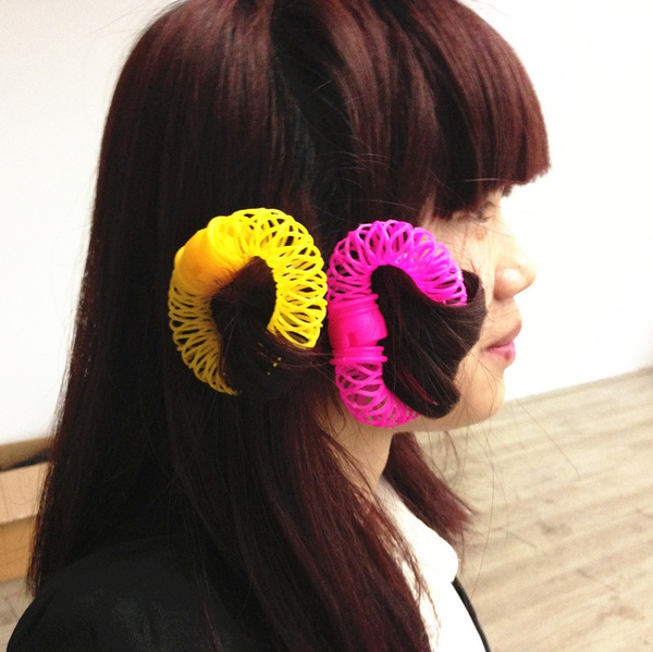 Cute 8 Pieces Hair Styling Donuts Hair Styling Roller Hair Dress
