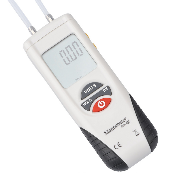 TOOLTOO Mini Digital Manometer Air Pressure Meter 11 Unit Gas Pressure  Tester to Measure Gauge & Differential Pressure ¡À13 79kPa / ¡À2 psi /