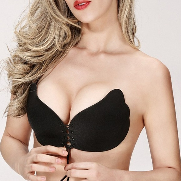 Strapless Backless Push Up Bra Invisible Adhesive Silicone Stick On Gel Women